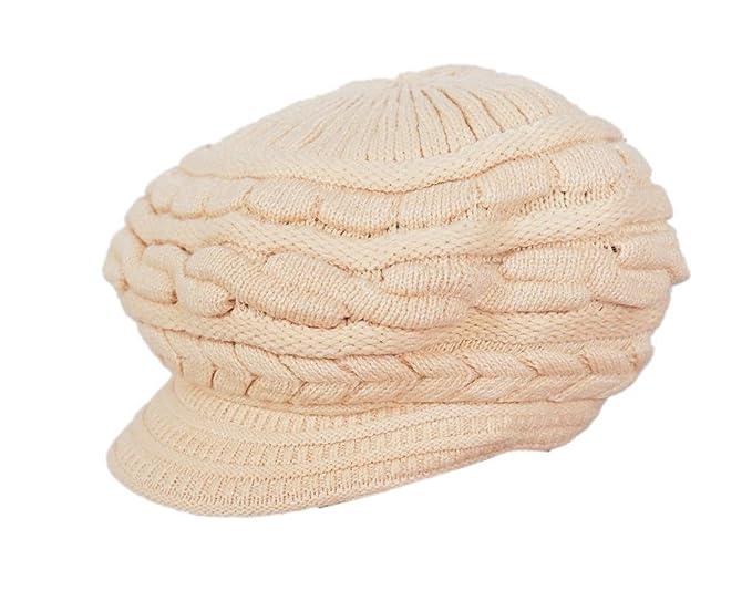 579b1bb3249 Devil Women s Woollen Knitted Cap Beige Free Size  Amazon.in ...