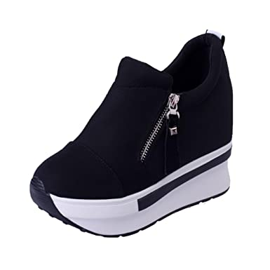 Cubre Covermason Botas Zapatos de plataforma Slip On Botines Zapatos casuales de moda(