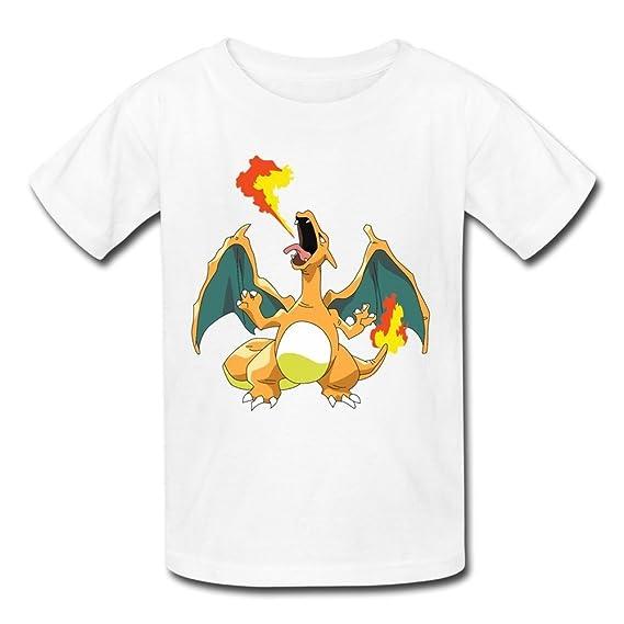 Flycro Renhe Kid de Dibujos Animados Pokemon Charizard Camisetas: Amazon.es: Ropa y accesorios