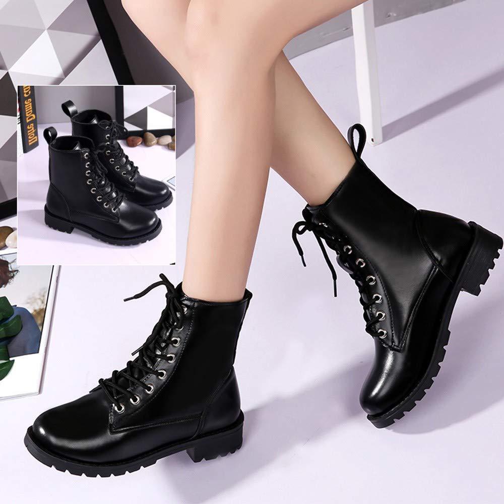 ZARLLE_Botas Botas,Botines cuña para Mujer Otoño Invierno 2018 Moda Militares de Altas para Mujer Zapatillas Zapatos de Invierno Sneakers: Amazon.es: Ropa y ...