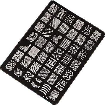 Amazon sannysis nail stamping printing plate manicure nail sannysis nail stamping printing plate manicure nail art decor image stamps plate prinsesfo Choice Image