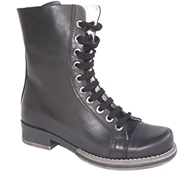 Ogswideshoes Daniella Black Leather Boots Extra Wide C Width 3e Width