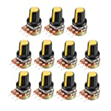 uxcell 11Pcs 50K Ohm Variable Resistors Single Turn