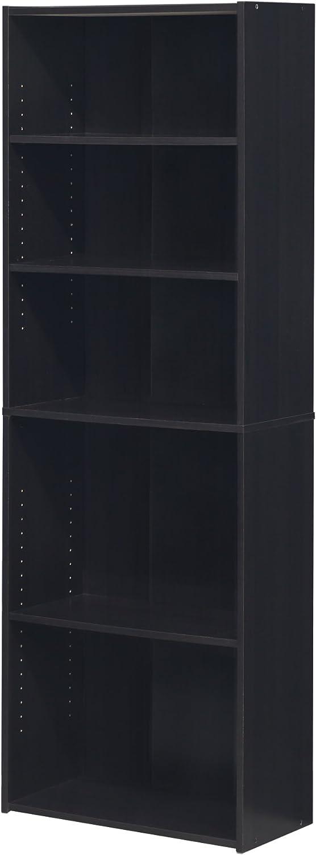 FURINNO Wright 5-Shelf Bookcase, Cinnamon Cherry