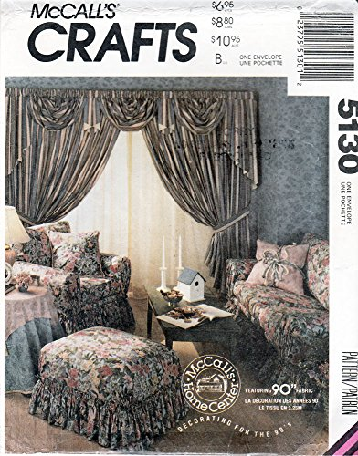 McCall's Home Decorating Slipcovers, Duvet Cover, Pillow Shams, Tablecloth Sewing Pattern 5130