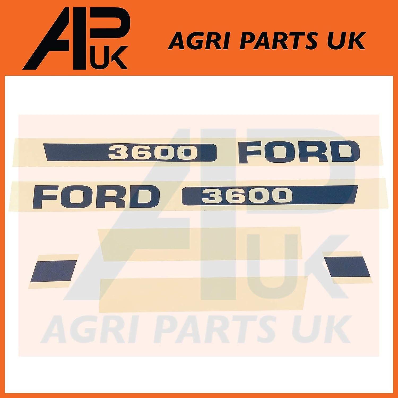 APUK New Holland 3600 Tractor Hood Bonnet Decal Sticker Set Kit Emblem Transfers Agri Parts UK Ltd