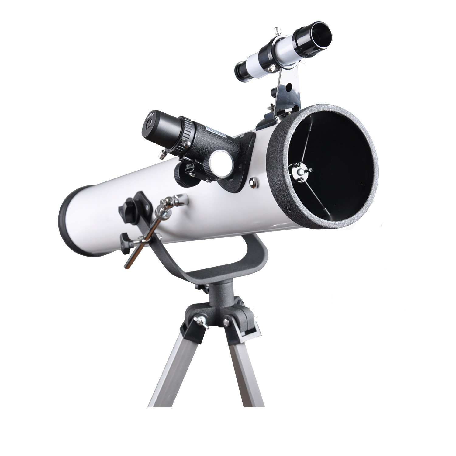Refractor Telescope 70EQ Scope - 76mm Aperture and 700mm Focal Length, Travel Refractor, Multi-layer Green Film, with Smartphone Adapter for Photography by Quicktec (76700)