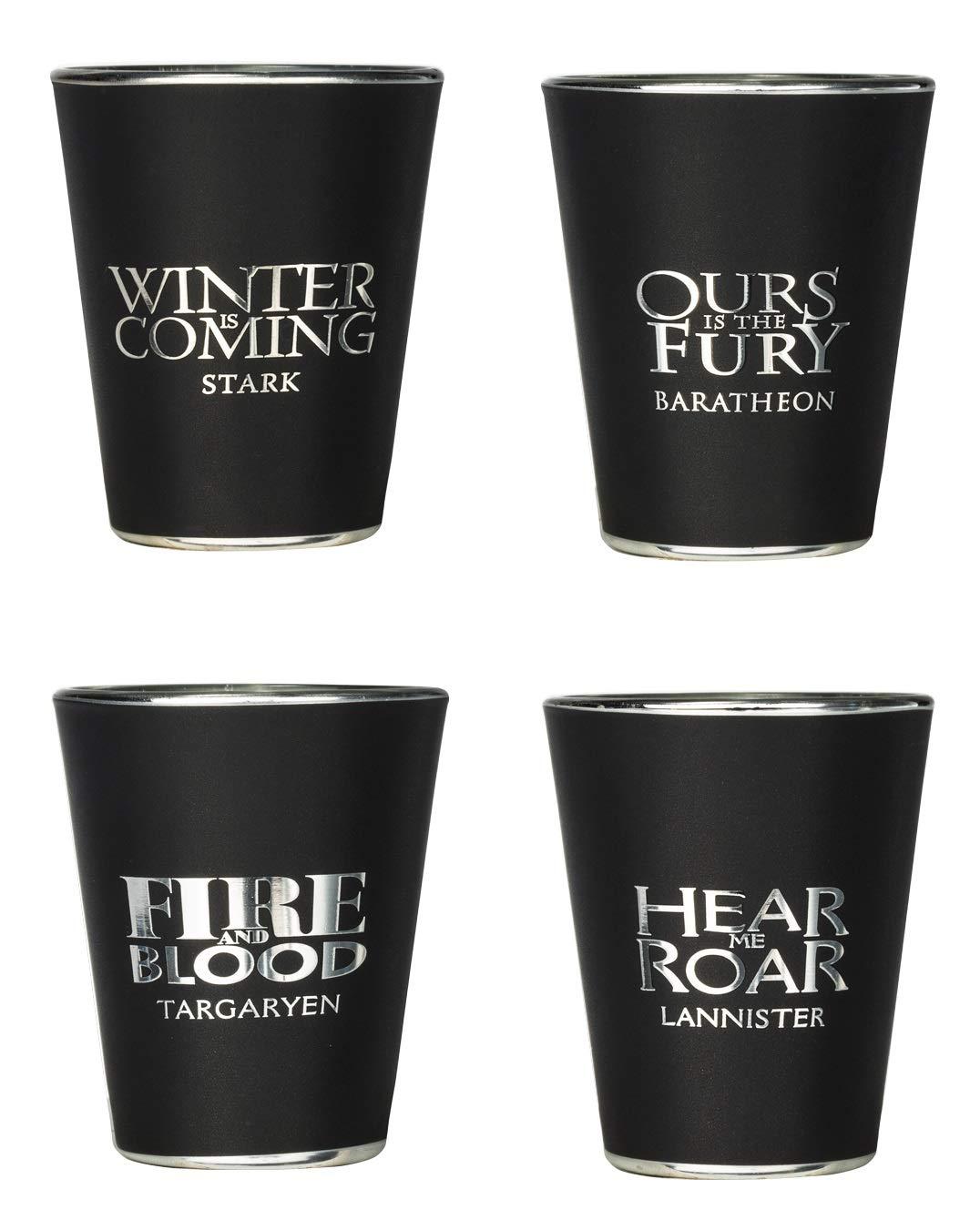 Rabbit Tanaka Game of Thrones House Sigil Shot Glass Set (Set of 4)