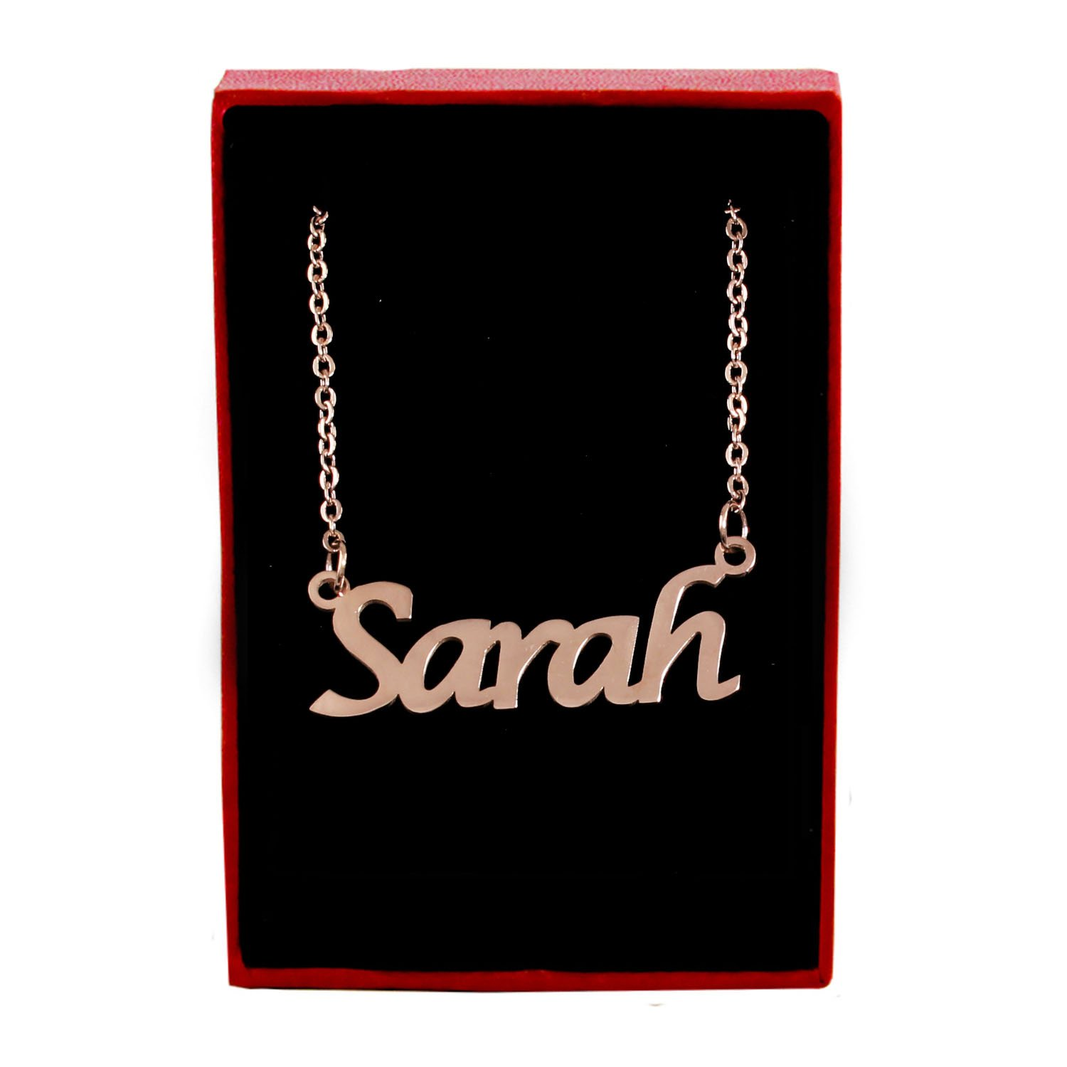 18ct Rose Gold Plated Zacria Sarah Name Necklace