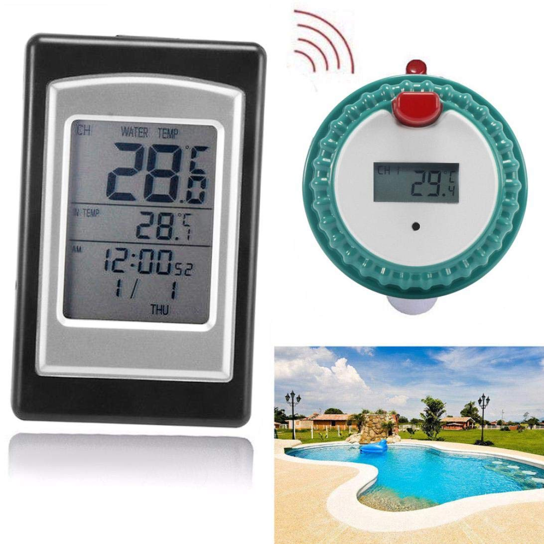 weijij Wireless Remote Digital Floating Swimming Pool Thermometer Waterproof Hot Tub Pond Thermometer