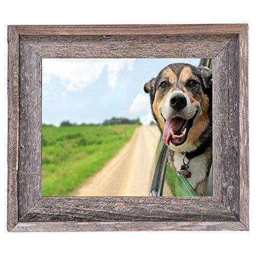 BarnwoodUSA Rustic 11x14 Inch Signature Photo Frame - 100% Reclaimed Wood, Weathered Gray by BarnwoodUSA (Image #3)