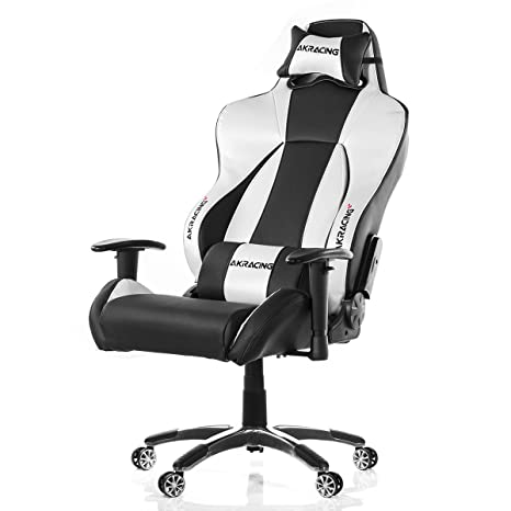 Miraculous Ak Racing K7002 Premium Gaming Chair Black Silver Faux Leather 56X58X14 5 Cm Machost Co Dining Chair Design Ideas Machostcouk