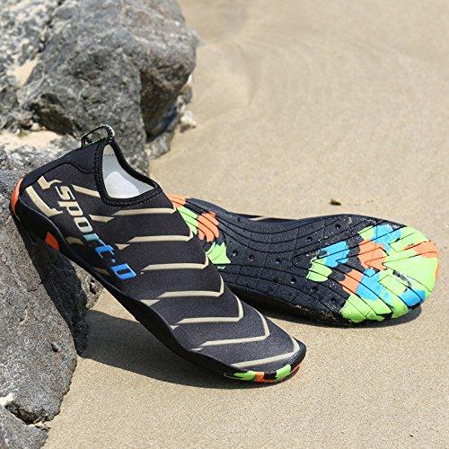 Calze Pool Donna Barefoot Pelle La Beach Giallo Aqua Per Water Yoga Surf Koudyen Shoes Swim 4qBCCP