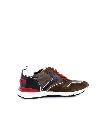 VOILE BLANCHE Sneakers Uomo 201287501 Tessuto Marrone  Amazon.it  Scarpe e  borse b4e5c193101