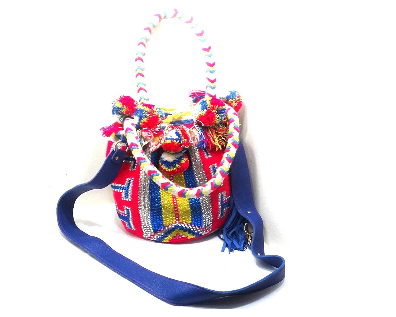 Amazon.com: GSC Moda Wayuu Women Handbag Ethnic 100% hand Woven Shoulder Bag Mochila Colombian: Jewelry