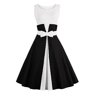 Padeong Plus Size 50s 4xl New Vintage Summer Women Dress O Neck Belt