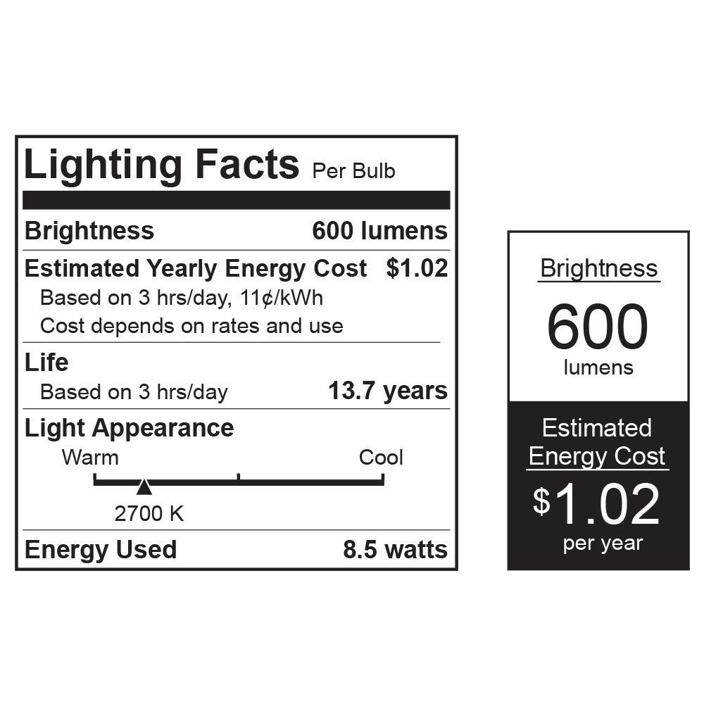 Feit Electric A800 827 Bat Ledi 85w A21 Back Up Bulb 10 Watt To 1000 Led Emergency Light Circuit Electronic