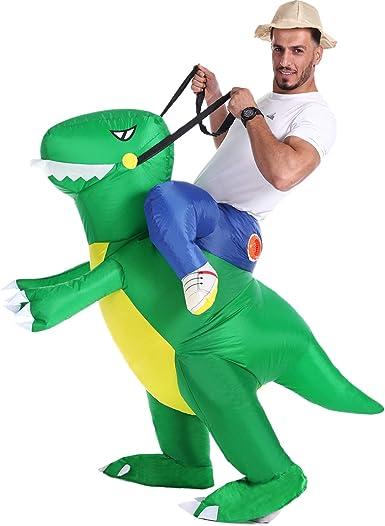 Amazon.com: Disfraz inflable de dinosaurio T-Rex, disfraz de ...