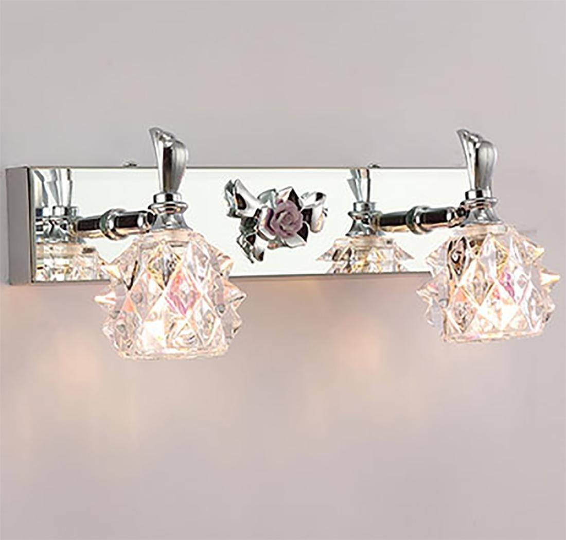 WUTONGSpiegel Scheinwerfer Badezimmer Light Badezimmer wasserdicht Spiegel Front Leuchte LED Wandleuchte Spiegelkabinett Licht Edelstahl 30  6  13.5cm
