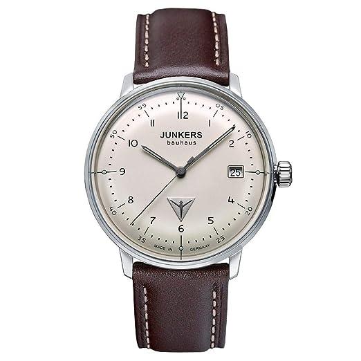 Reloj de Cuarzo Junkers Bauhaus Lady, Beige, 35 mm, Correa de piel, 6047-5: Amazon.es: Relojes