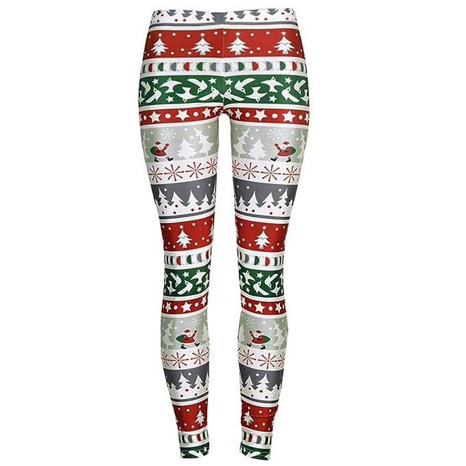 Christmas Running Leggings.Byste Women Merry Christmas Elastic Leggings Sport Pants Yoga Running Fitness Leggings