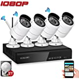 Security Camera System Outdoor YESKAMO Wireless Home Security Camera System 1080P 4 Channel Full HD 2.0