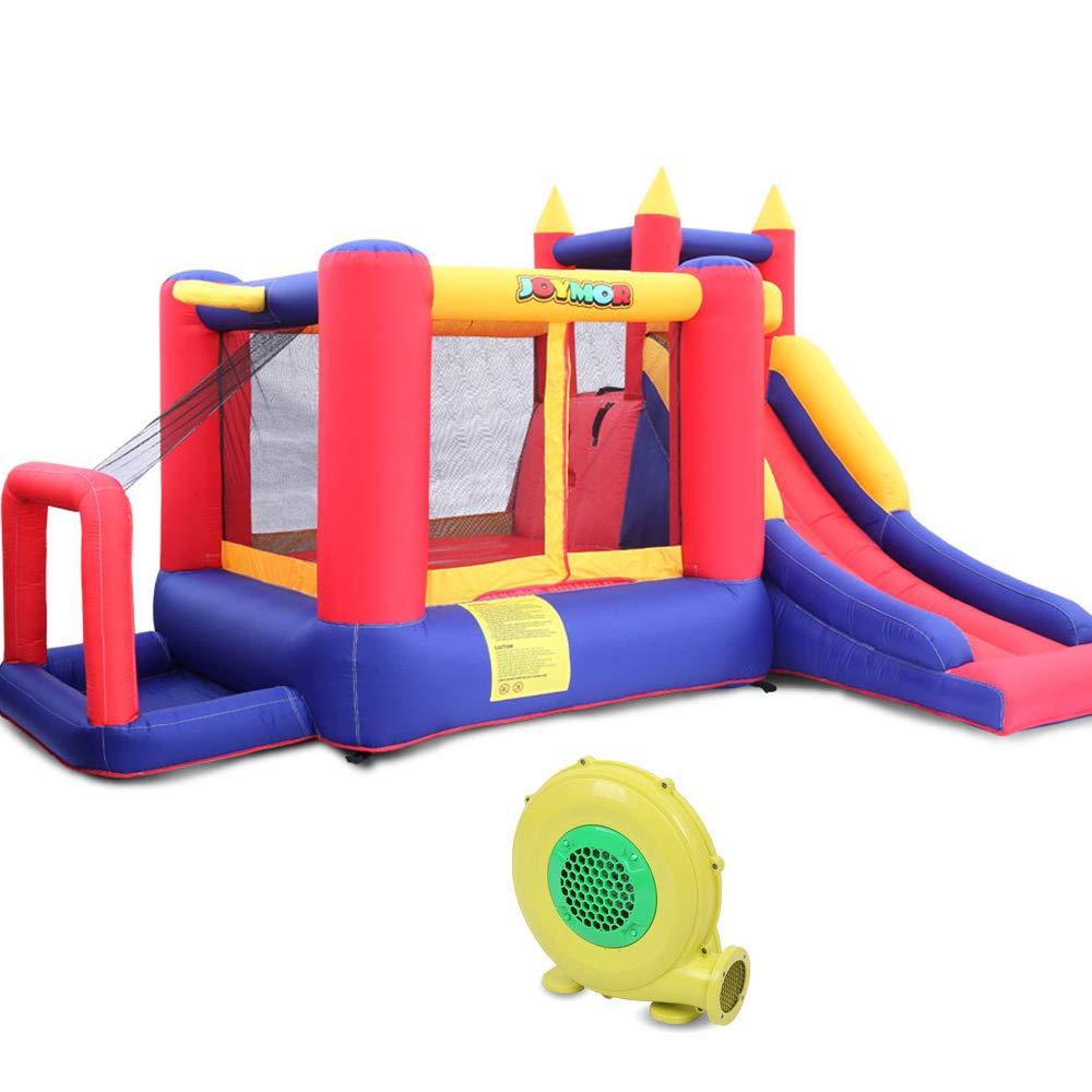 JOYMOR Bounce House Little Kids Inflatable Bouncing Castle Play Center w/ Air Blower Pump, Slide Bouncer by JOYMOR