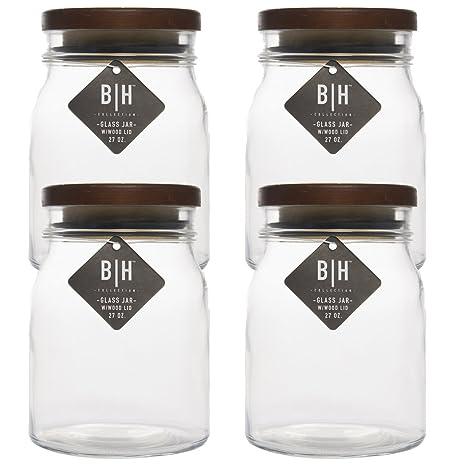 Amazon Blue Harbor 40 Pack 40oz Clear Glass Storage Jars With Mesmerizing Decorative Glass Storage Jars