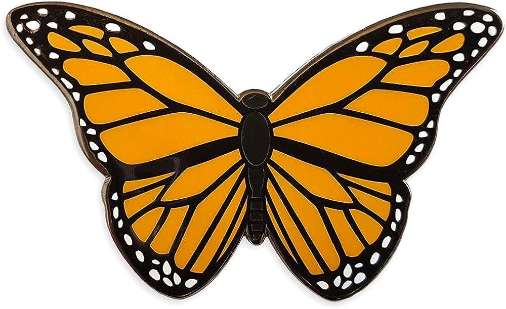 Pinsanity Monarch Butterfly Enamel Lapel Pin