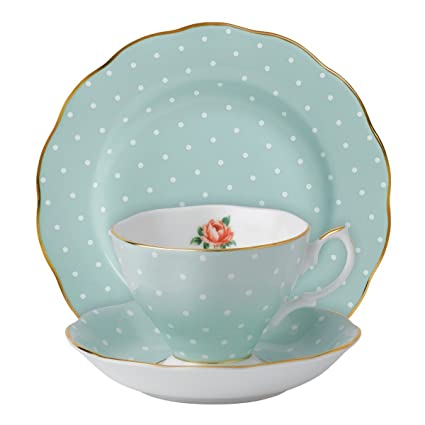 24a3aa5fc47 Royal Albert 100 Years Polka Rose Vintage Cup, Saucer and Plate Brand New  Boxed: Amazon.co.uk: Kitchen & Home