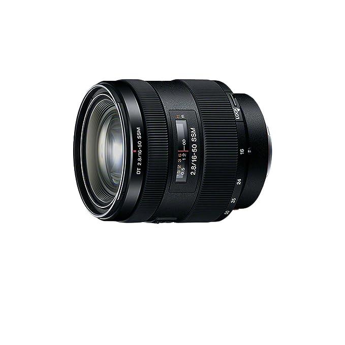 Sony SAL1650, Standard-Zoom-Objektiv (16-50 mm, F2,8 SSM, A-Mount APS-C, geeignet für A77/ A58 Serien) schwarz