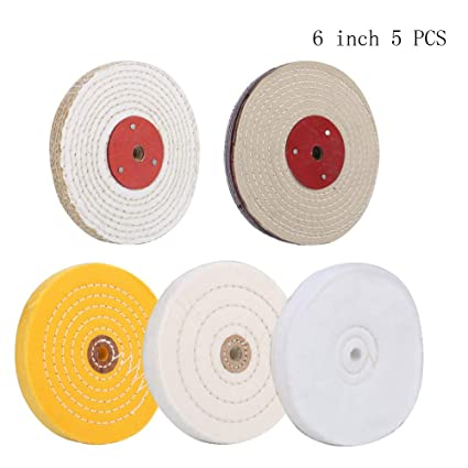 Wondrous 6 Buffing Polishing Wheels Grit Soft 30 Ply Grit Fine 50 Ply Grit Medium 42 Ply Grit Coarse 50 Ply Grit Rough 5 Ply For Bench Bralicious Painted Fabric Chair Ideas Braliciousco