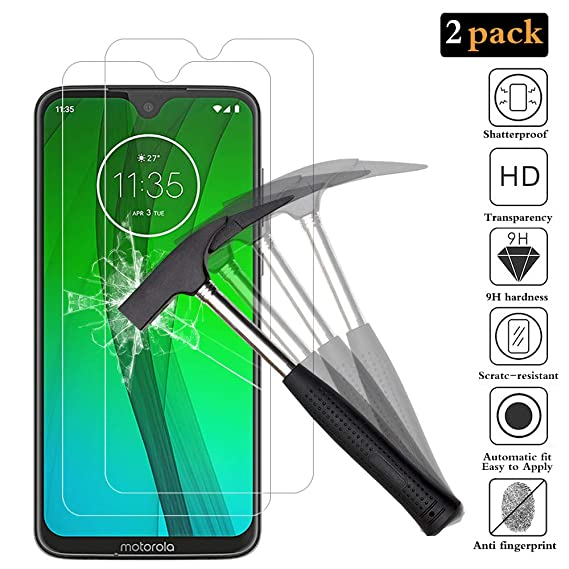ANEWSIR for Moto G7/Moto G7 Plus Screen Protector, 【2 pack】 Premium  Tempered Glass Screen Protector [High Definition] [Ultra Thin] for Motorola  Moto