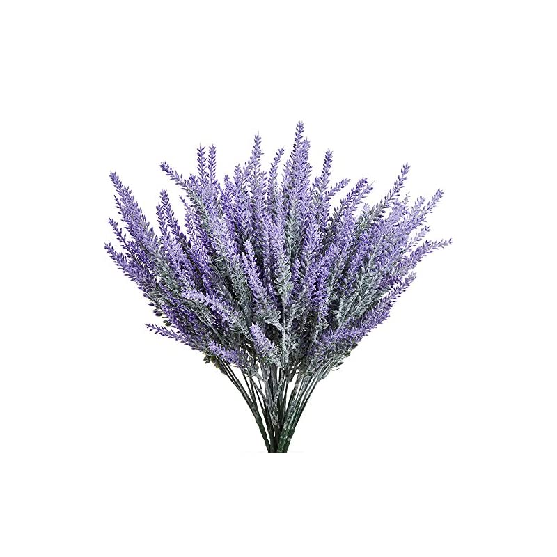 silk flower arrangements klemoo artificial lavender flowers 4 pieces for wedding decor and table centerpieces, lifelike fake plant bouquet to brighten up your home kitchen garden and indoor outdoor decor(purple)