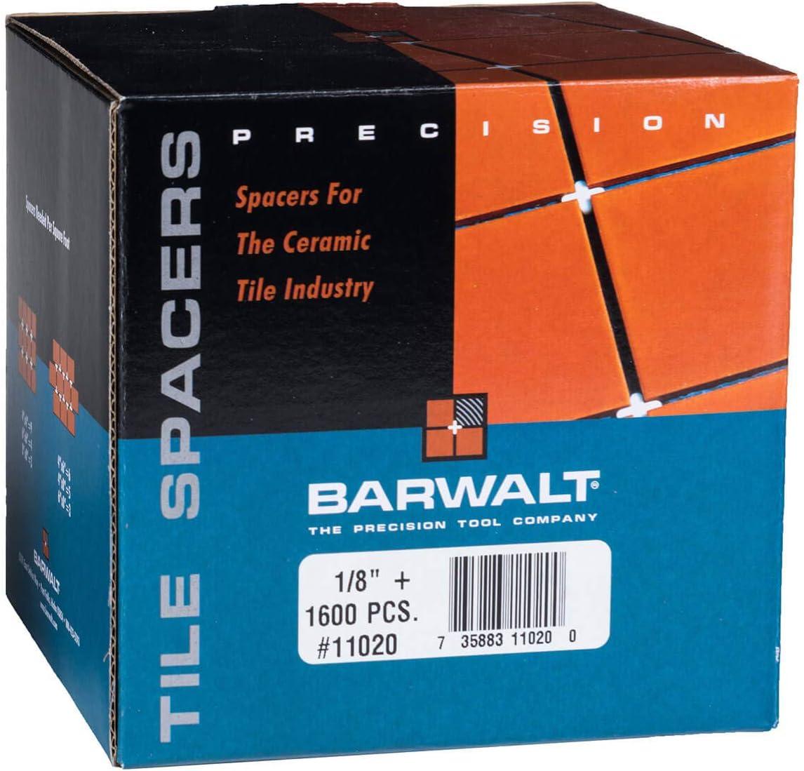 1600 Pcs Box Barwalt 1//8 Regular Tile Spacers