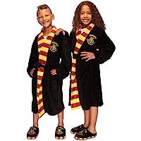 HARRY POTTER Kids Hogwarts Fleece Bath Robe Dressing Gown