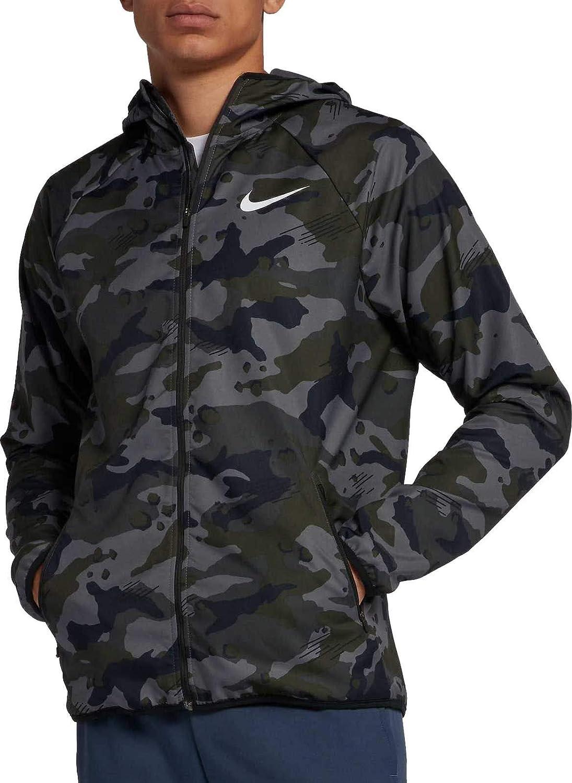 Mens Nike Dry Camouflage Hoodie Black Tan Camo Zip Up Dri Fit New