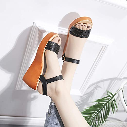 ❤️ Sunbona On Sale Women Gladiator Sandals Ladies Summer Knee High Open Toe Flats Sandal Boots Platform Roman Party Dress Shoes