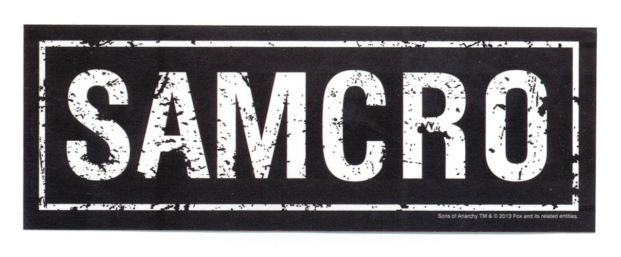 Sons of anarchy samcro sticker amazon co uk car motorbike