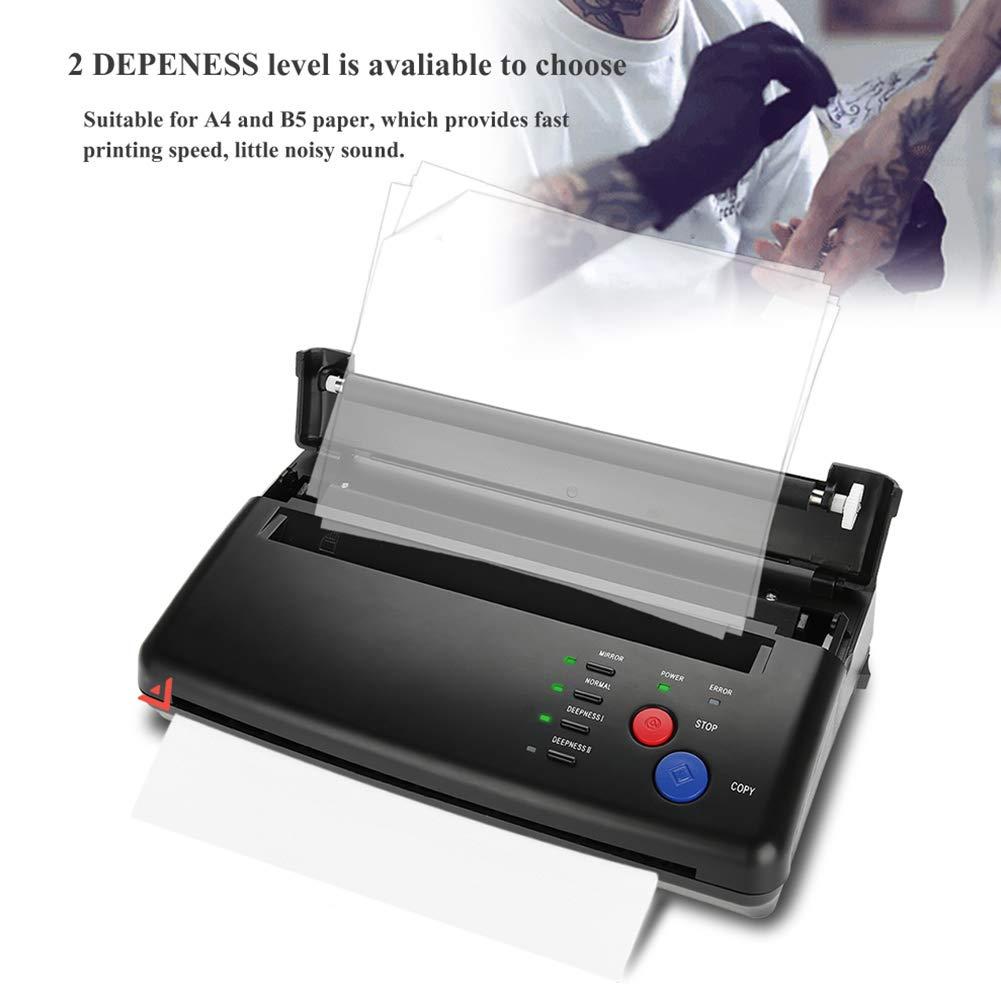 Rosvola Máquina de Plantilla de Transferencia de Tatuajes Impresora térmica Copiadora Kit de Tatuaje para Tatuajes temporales y permanentes(EU Plug)