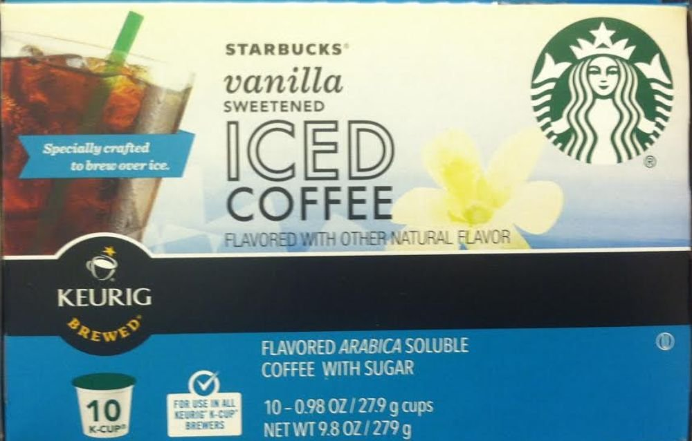Starbucks Iced Coffee K Cup Single Serve Sweetened 10 Count 0 98oz Cups 9 8oz Box Pack Of 3