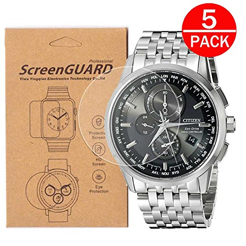 [5-Pack] For Citizen AT8010-58E/AT8110-53E Watch Screen Protector,Full Coverage Screen Protector for Citizen AT8010-58E/AT8110-53E Watch HD Clear Anti-Bubble and Anti-Scratch