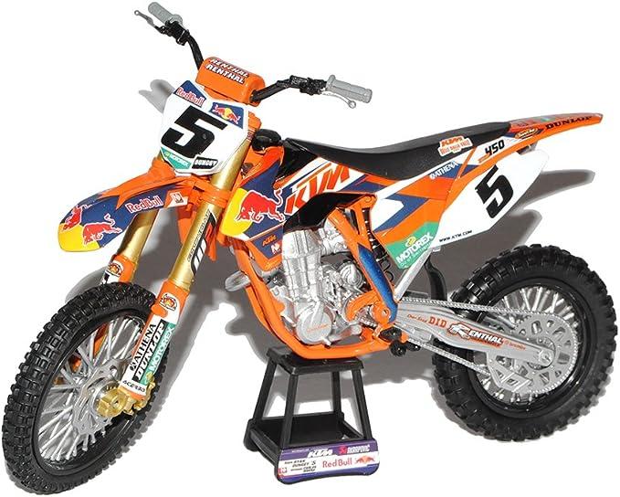 New Ray K T M 450 Sx F Dirt Bike Ryan Dungey Nr 5 Factory Racing Team Red Bull Enduro 1 10 Modell Motorrad Modell Auto Spielzeug