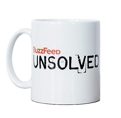 Amazon Com Buzzfeed Unsolved Logo Coffee Mug Kitchen Dining