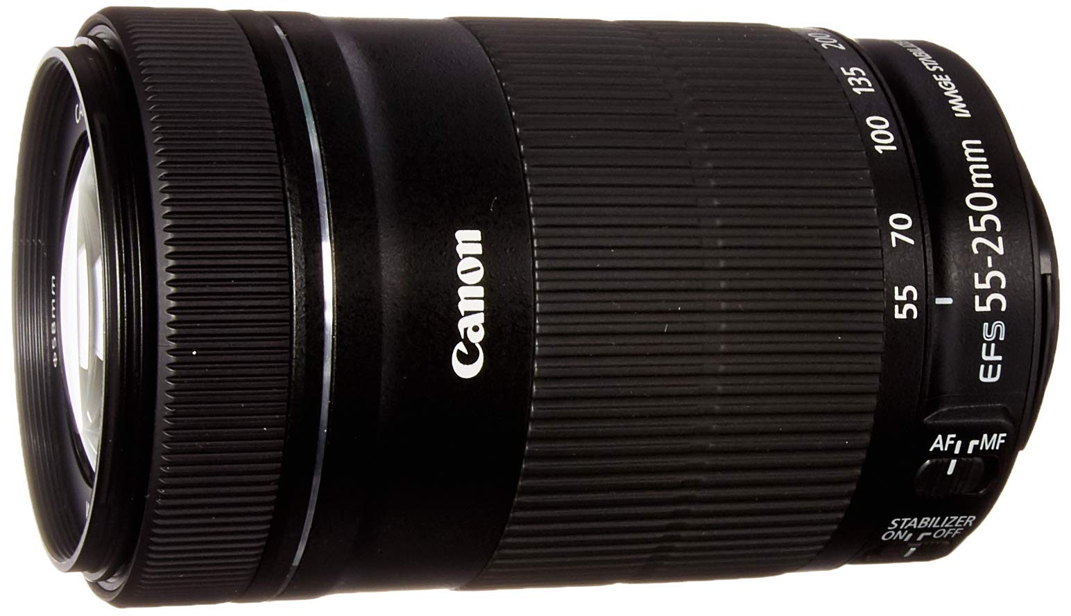 Canon EF-S 55-250mm F4-5.6 is STM Lens for Canon SLR Cameras (Renewed) by Canon