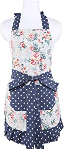 PBQWER Kitchen Apron for Women, with Pockets, Work Aprons Home Shop Kitchen Cooking Tools Gifts for Women Aprons