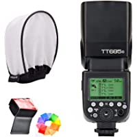 Godox TT685S HSS 1/8000S GN60 TTL Flash Speedlite 0.1-2.s Recycle Time 230 Full Power Flashes Supports TTL/M/Multi/S1/S2…