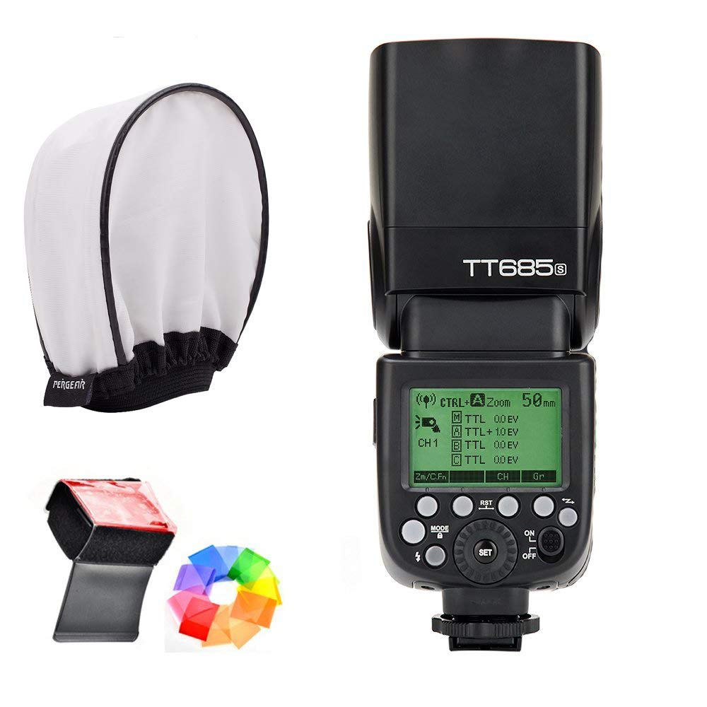 Godox TT685S HSS 1/8000S GN60 TTL Flash Speedlite 0.1-2.s Recycle Time 230 Full Power Flashes Supports TTL/M/Multi/S1/S2 Modes 20-200mm Auto/Manual Zooming for Sony DSLR with MI Shoe by Godox