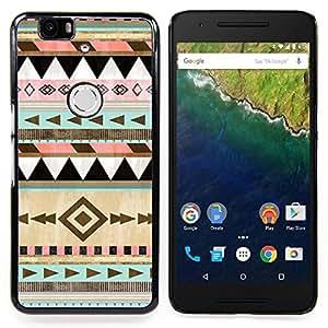 Planetar ( Waves Sunset mer Mouettes ) Huawei Google Nexus 6P Fundas Cover Cubre Hard Case Cover
