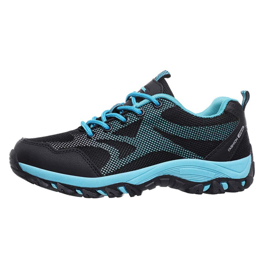 noirbleu  Henxizucun Chaussures de Marche en Plein air pour Hommes Chaussures de randonnée légères Bas Travail de sécurité au Travail Chaussures de Sport Slip on Trainers pour Escalade Trekking